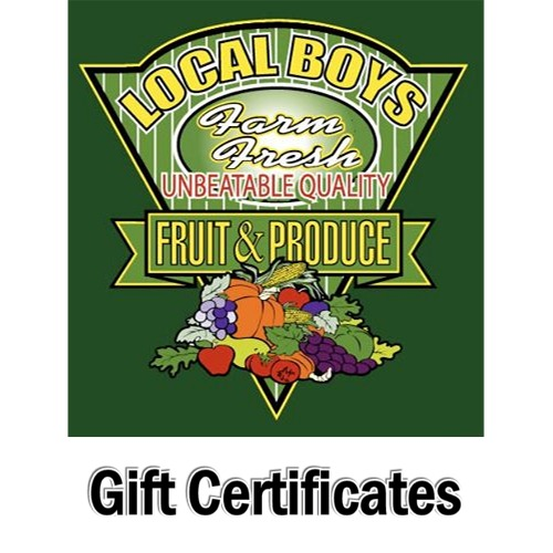 Local Boys Gift Certificates